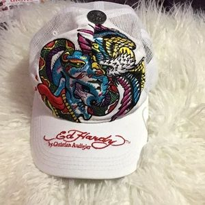 Ed hardy hat very good condition